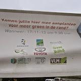 Plantactie Kleine Everseweg Zaventem - 17 november 2013