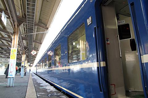 JR寝台特急「日本海」 4001レ 青森駅到着の一コマ