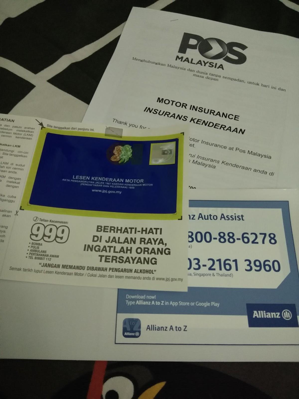 My Life My Loves Cara Renew Road Tax Insurance Di Pejabat Pos