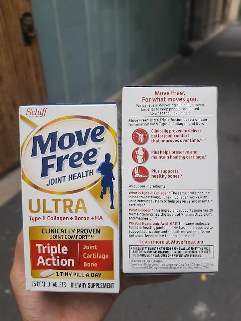 Schiff Move Free Ultra Triple Action 75 viên của Mỹ - Hỗ trợ xương khớp khỏe mạnh, dẻo dai