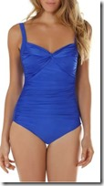 Seaspray Draped Front Sapphire Swimsuit
