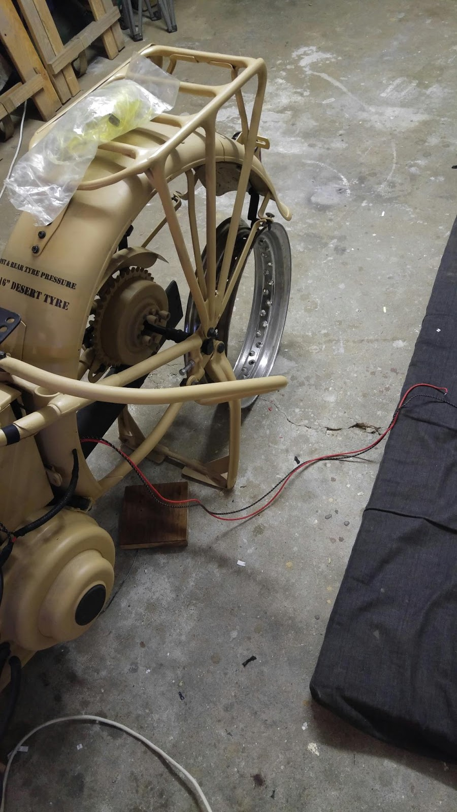 1941 Harley Davidson WL Restoration : ing the Rear Light ... on