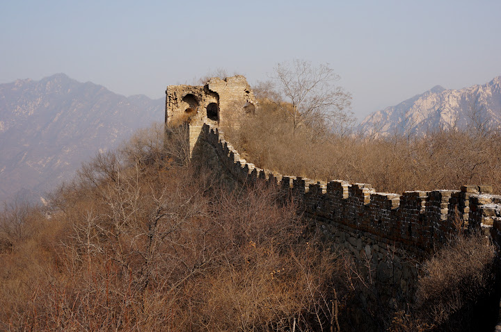 zona sin restaurar, gran muralla china