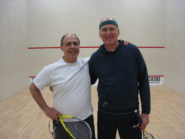 Ron Beck, winner, and Jeff Blomstedt, finalist, of the Men's 60+ flight.