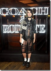 HOLLYWOOD, CA - MARCH 30:  Illustrator Langley Fox attends the Coach & Rodarte celebration for their Spring 2017 Collaboration at Musso & Frank on March 30, 2017 in Hollywood, California  (Photo by Donato Sardella/Getty Images for Coach)