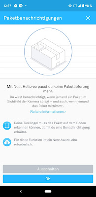 Paketerkennung durch Nest Hello