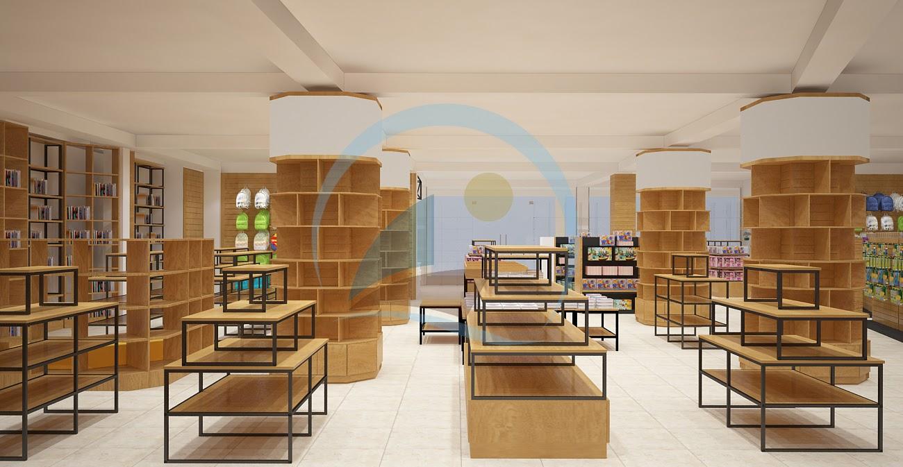thiết kế nội thất nhà sách Trí Đức 13
