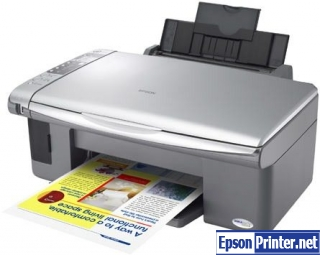 How to reset Epson CX3500 by application
