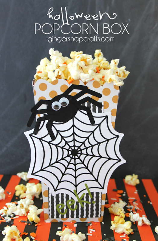 Halloween Popcorn Box at GingerSnapCrafts.com