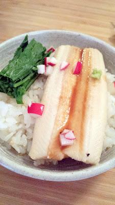 Yurukyara Grand Prix at Nodoguro, a Japanese mascot themed dinner Course 8 Sasanishki rice with eel and tea