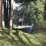Our campsite looked great from the range