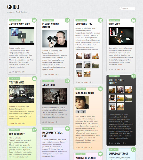 Grido Responsive WordPress Theme
