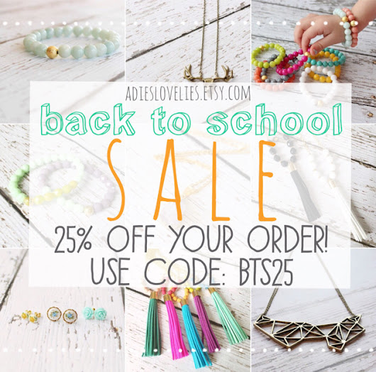 back to school sale | adie's lovelies