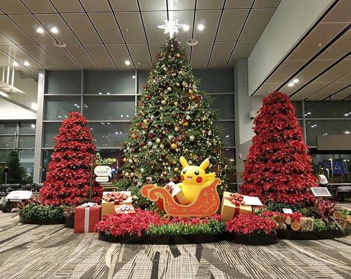Pikachu Christmas in Changi Airport