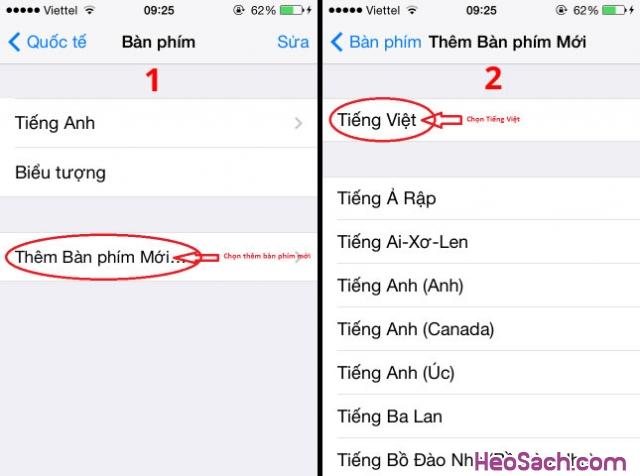 Hình 4 - Hướng dẫn cách bật chế độ gõ tiếng Việt trên iOS