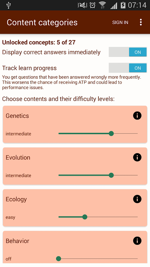 Biology Academy (A-Level)- screenshot