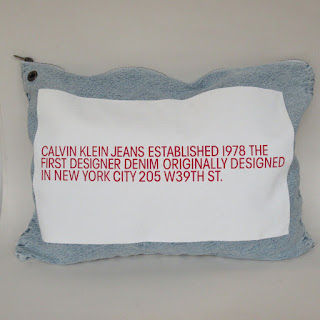 Calvin Klein 205W39NYC Oversized Washed Denim Pouch