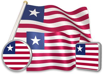 Liberian flag animated gif collection