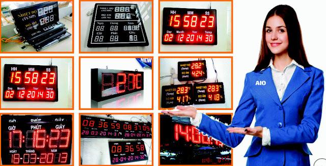 Nhận Sản xuất Đồng hồ treo tường led - Đồng hồ Nhiệt độ Độ ẩm - Bảng giám sát sản xuất theo đơn hàng