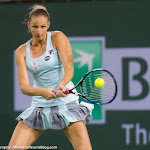 INDIAN WELLS, UNITED STATES - MARCH 18 : Karolina Pliskova in action at the 2016 BNP Paribas Open
