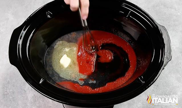 sauce in a slow cooker