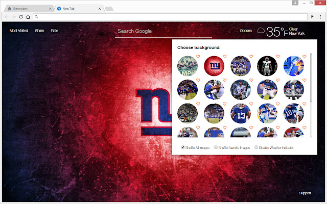New York Giants Wallpapers Hd Nfl New Tab