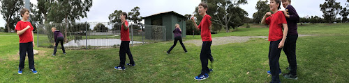 Panorama Fun with Ben and Seb  in Perth Park