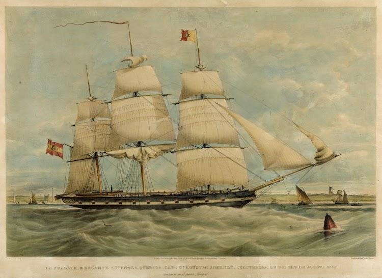 Fragata QUERIDA entrando en Liverpool.Royal Maritime Museum. Greenwich..jpg