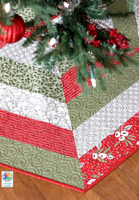 Holly Jolly Tree Skirt pattern by A Bright Corner - now with three sizes and Jelly Roll instructions