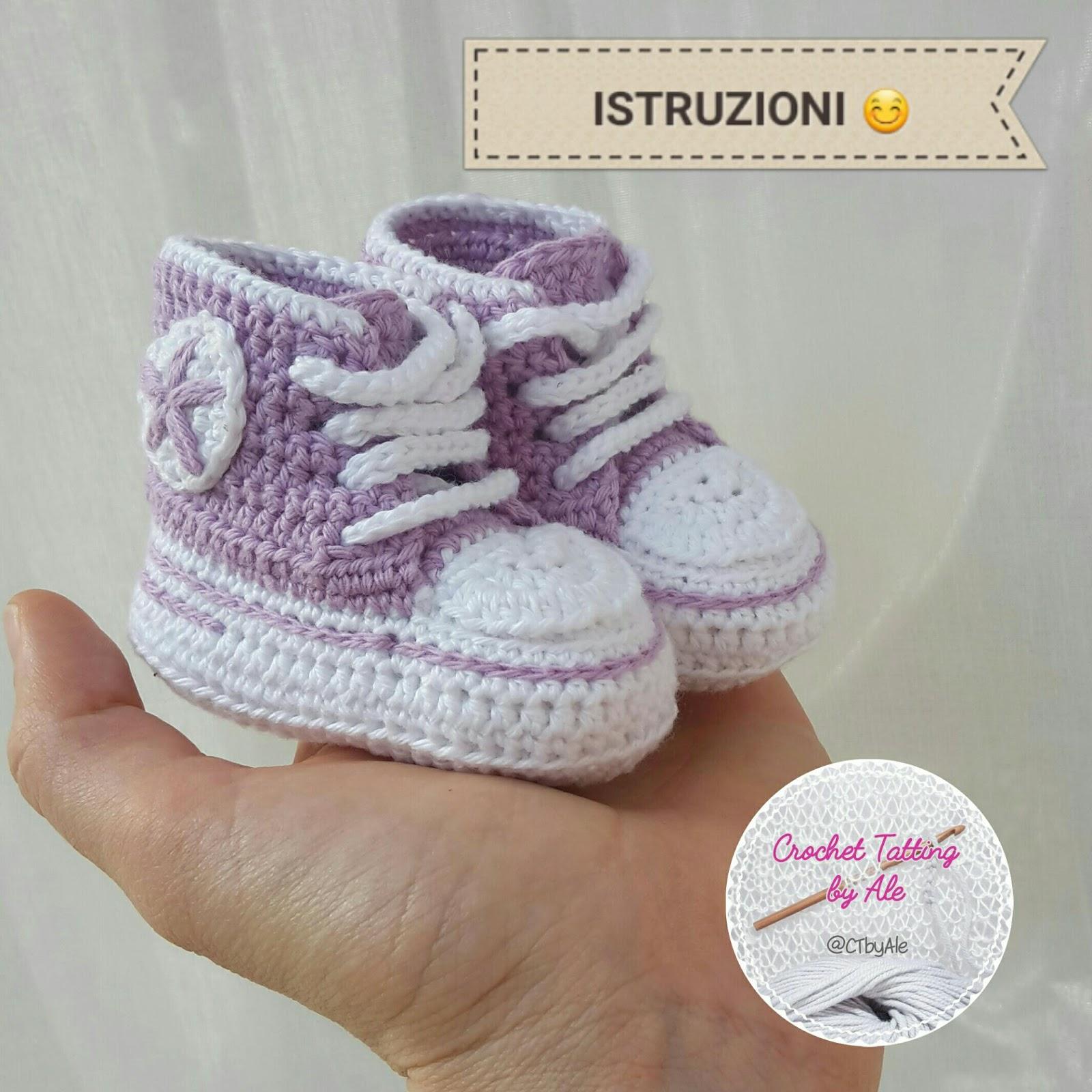 Favorito ♡ Crochet Tatting by Ale ♡: Scarpine CONVERSE uncinetto A MODO MIO AM18