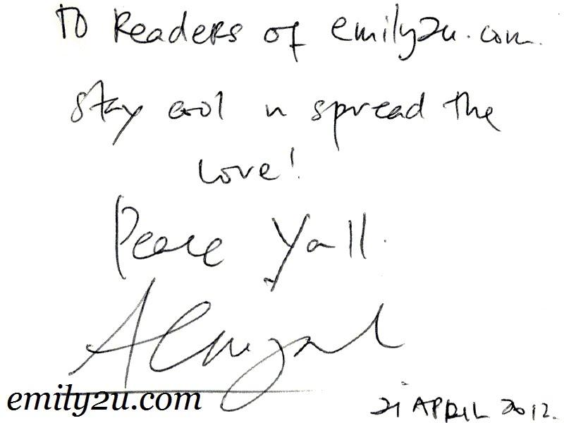 AC Mizal autograph