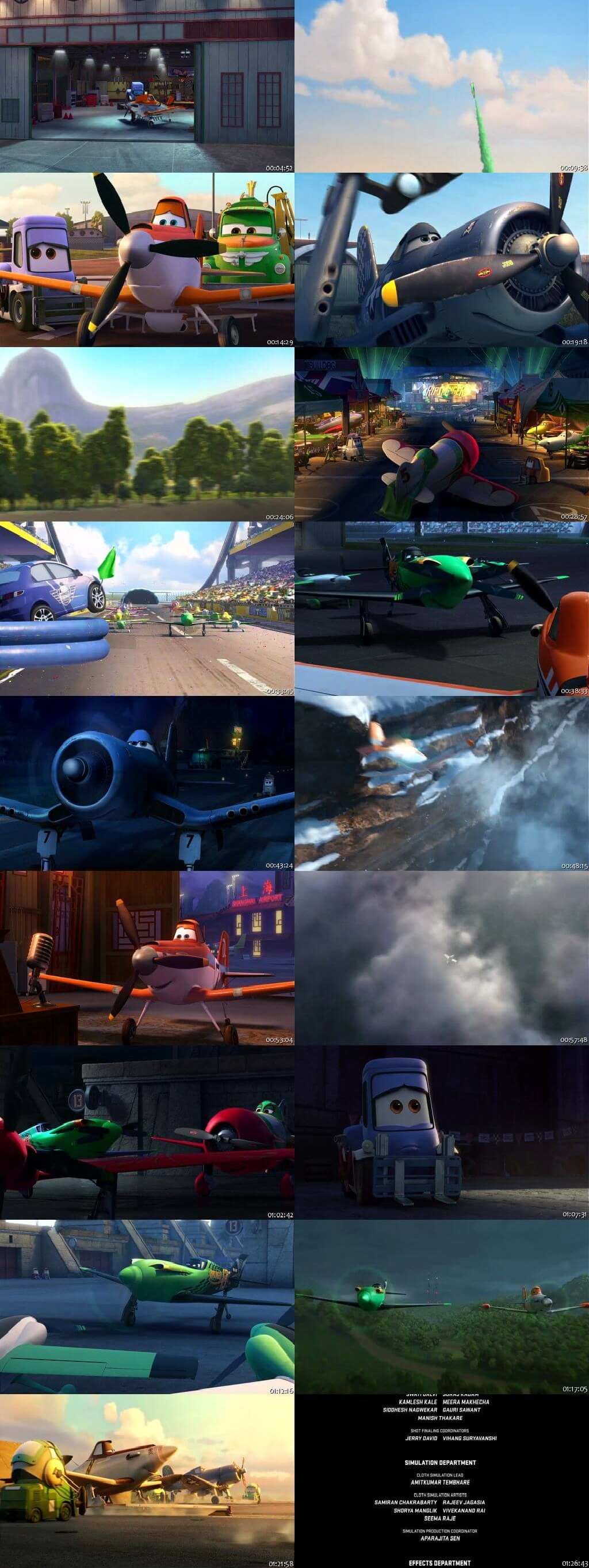 Screen Shot Of Planes 2013 In Hindi English Dual Audio Bluray