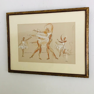 Signed Ballet Watercolor