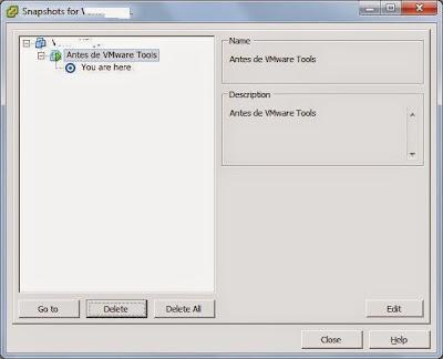 Eliminar los snapshot de la máquina virtual a ampliar el disco duro