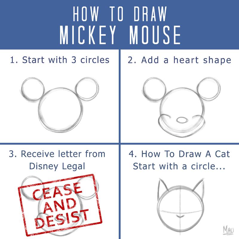 Como dibujar un Mickey Mouse en sólo 4 pasos [Humor]