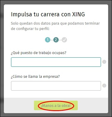 Abrir mi cuenta Xing - 5