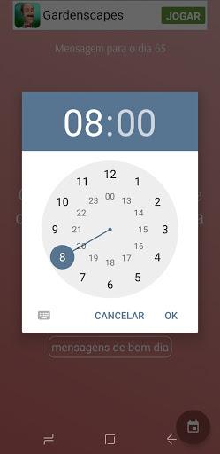 Foto tirada do app de mensagem do dia