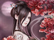 Fantasy Moon And Samurai Girl