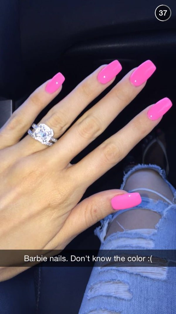 56+ Beautiful Pink Color for Nails Designs
