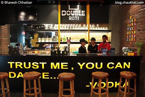 Counter at Double Roti, Viman Nagar, Pune