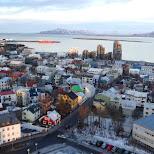 Reykjavik from the Hallgrímskirkja in Reykjavik, Hofuoborgarsvaeoi, Iceland