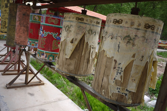 prayer wheels at Kumbum Monastery (Taer Si) in Qinghai, China