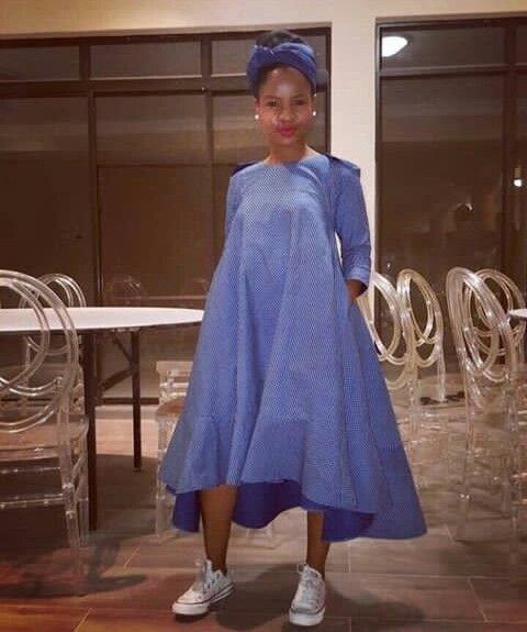 South African Shweshwe Fabric Dresses Pictures 2019