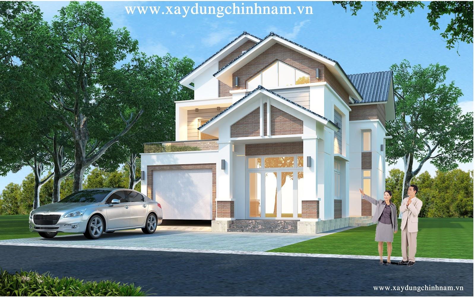 Thiết kế Biệt thự nhà chú Tư ở Biên Hoà