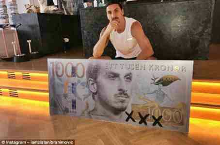 Zlatan Ibrahimovic Immortalized on K1,000 Bank Note in Sweden (Photos)