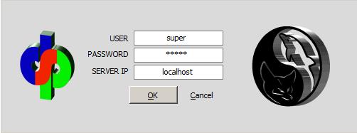 isikan user : super milik anda, atau user lain dengan Hak = 1