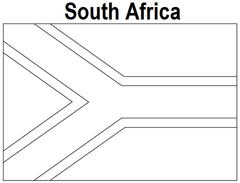 Geography Blog South Africa Flag Coloring Page