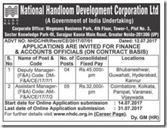 NHDC Advertisement 2017 www.indgovtjobs.in