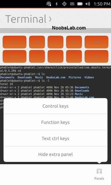 Ubuntu Touch terminal