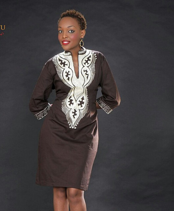 Ladies Embroidered Dress African Clothes African